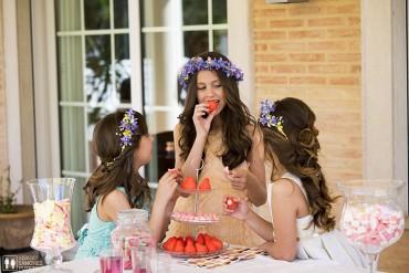 La fiesta de Natalia, Lorena y Lucía.